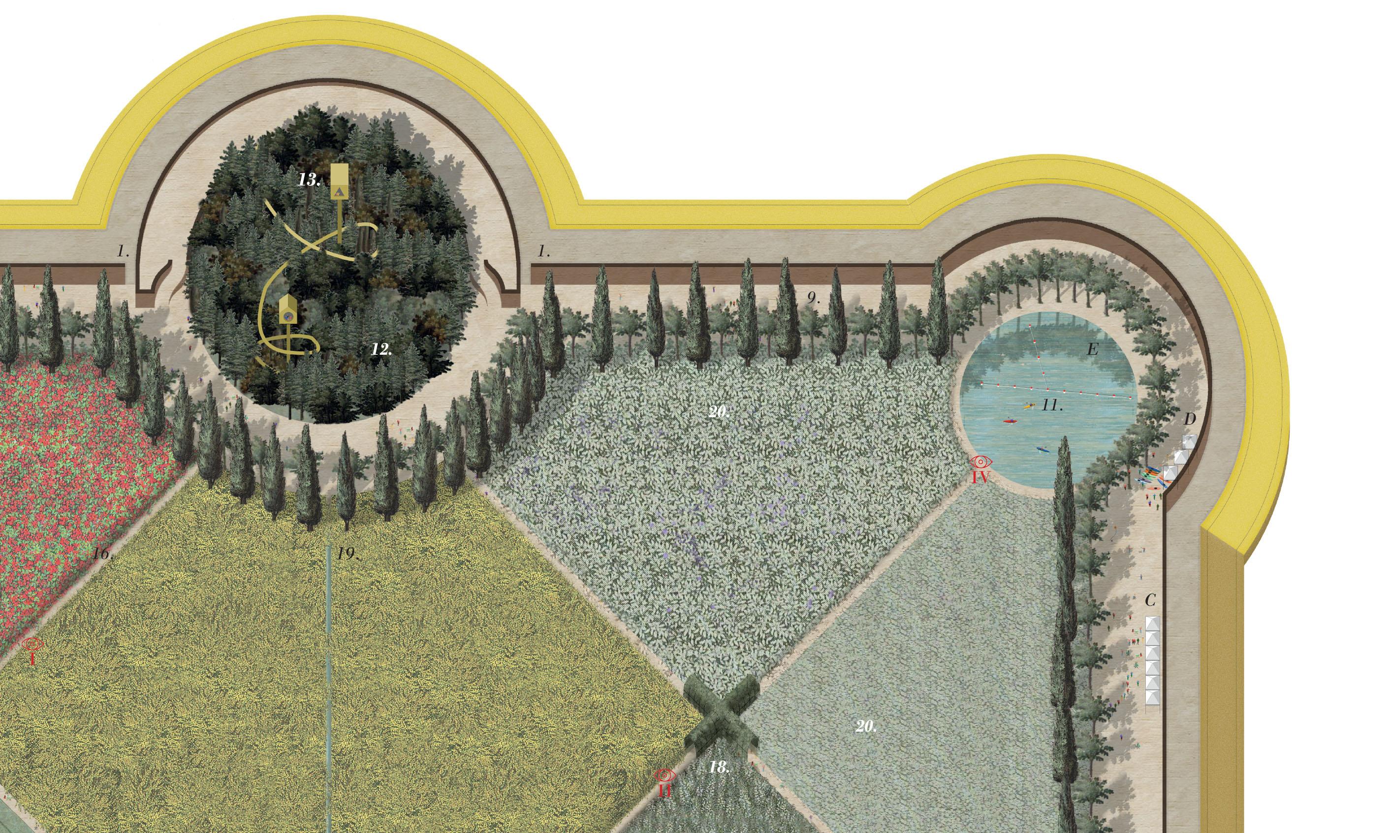 parco e giardino segreto della reggia ducale di Rivalta